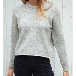 Brandy Melville Grey Cropped Wanda Sweater Top OS